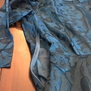Yiso Dresses - NWT Lace 3/4 Sleeve Fit & Flare Dress in Dark Teal